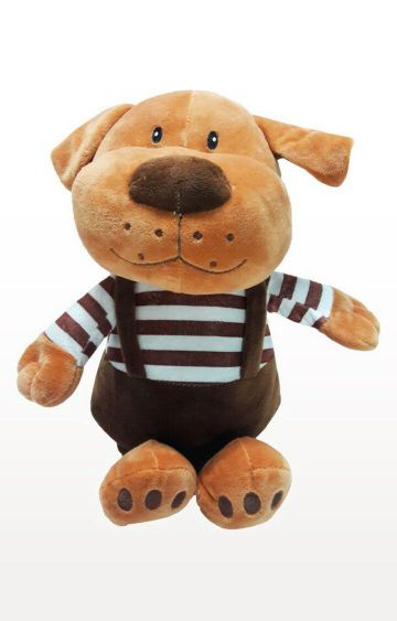 Hamleys | My Baby Excels Cute Dog with Dungaree Plush