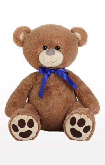 Hamleys   Brown Sitting Teddy Bear Plush with Bow - 45cm