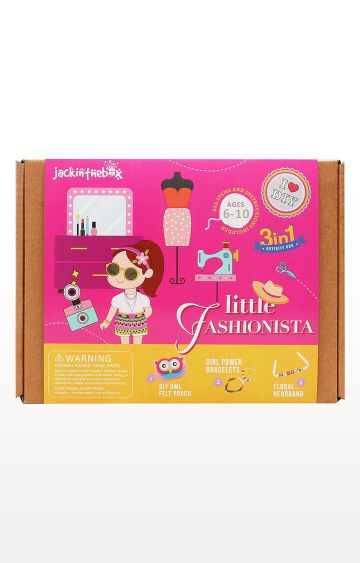 Hamleys | Blue Jackinthebox Art and Craft Little Fashionista 2-In-1 DIY Fun Activities