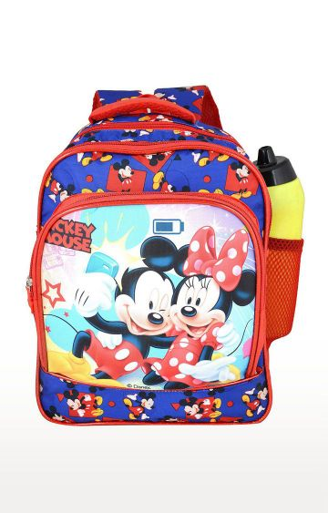 Hamleys | Blue and Red My Baby Excels Disney Princess Pom Pom Sequins School Backpack