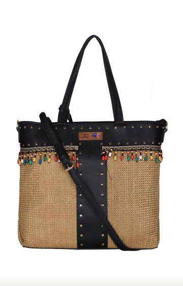 ESBEDA   Black and Tan Handbag