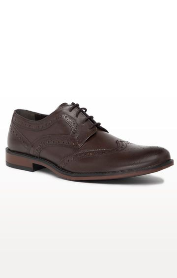 Noble Curve   Brown Derby Brogues Shoes