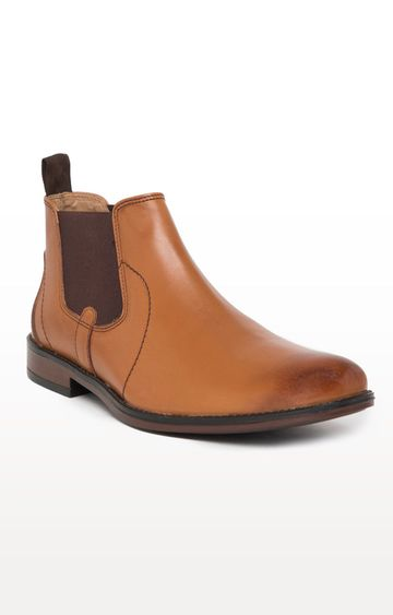 Noble Curve   Tan Formal Chelsea Boot