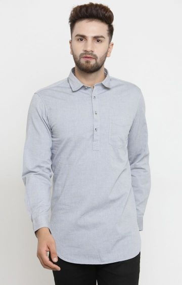 John Players | Grey Melange Kurta