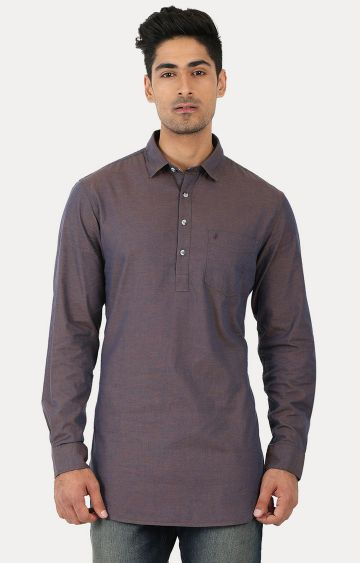 John Players | Brown Solid Kurta