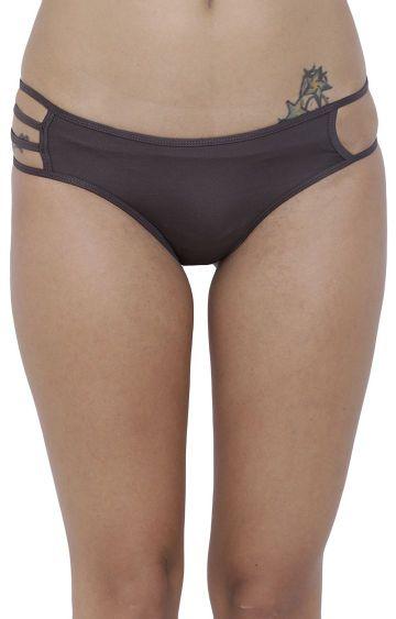 BASIICS by La Intimo | Grey Solid Hipster Panties