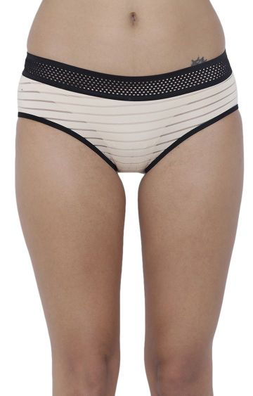 BASIICS by La Intimo | Nude Striped Hipster Panties