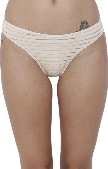 BASIICS by La Intimo | Nude Striped Bikini Panty