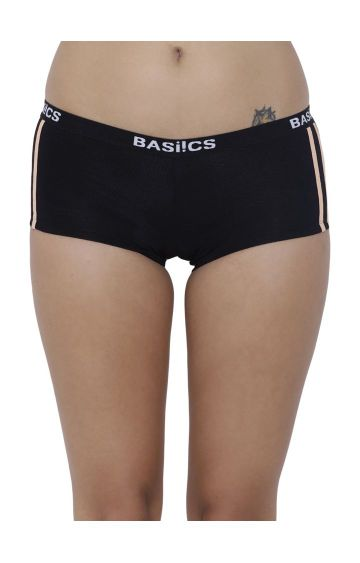 BASIICS by La Intimo | Black Solid Boyshorts