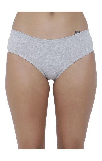 BASIICS by La Intimo | Grey Melange Hipster Panties