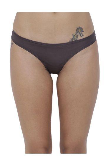 BASIICS by La Intimo | Grey Solid Thongs