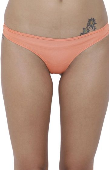 BASIICS by La Intimo | Peach Solid Thongs