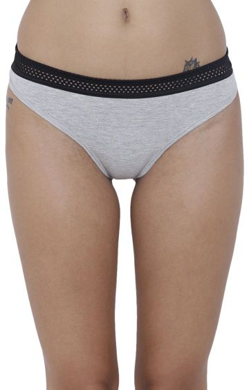BASIICS by La Intimo | Grey Solid Bikini Panty