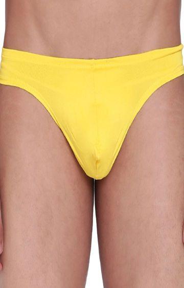 BASIICS by La Intimo | Yellow Solid Thong