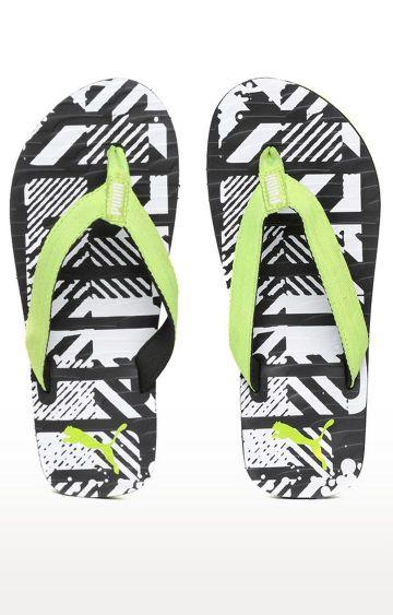 Puma | Green and Black Flip Flops