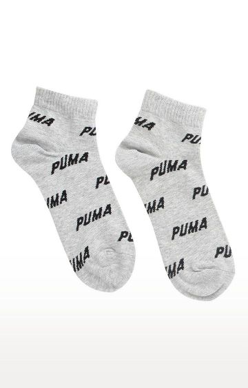 Puma | Grey Printed Socks - Pack of 2