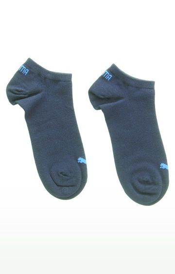 Puma | Blue and Grey Solid Socks - Pack of 3