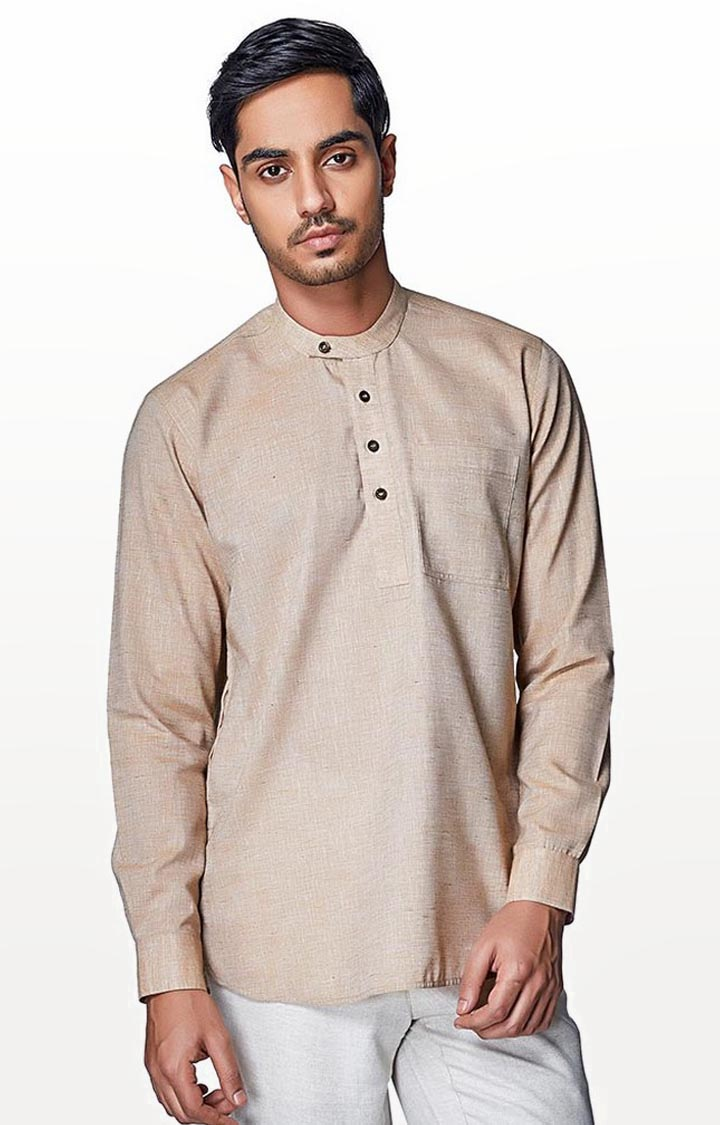 EVOQ | Brown Solid Casual Shirt