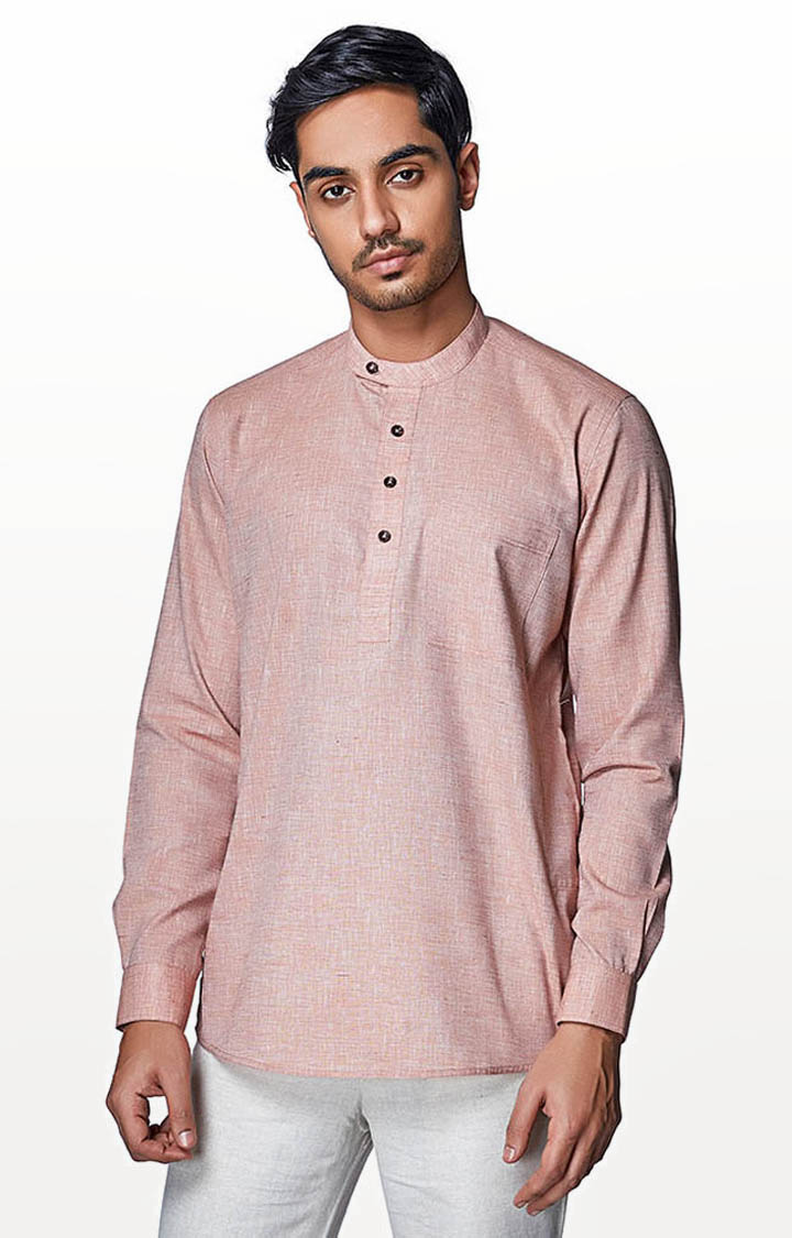EVOQ | Pink Solid Casual Shirt
