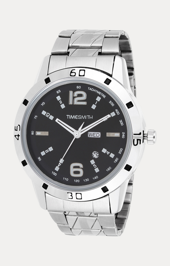 Timesmith Silver Analog Watch For Men