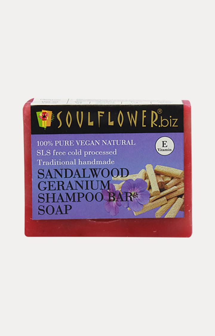 Soulflower | Sandalwood Geranium Shampoo Bar Soap - 150gm