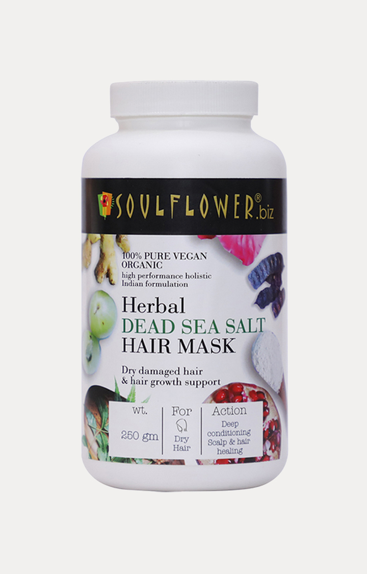 Soulflower | Herbal Dead Sea Salt Hair Mask