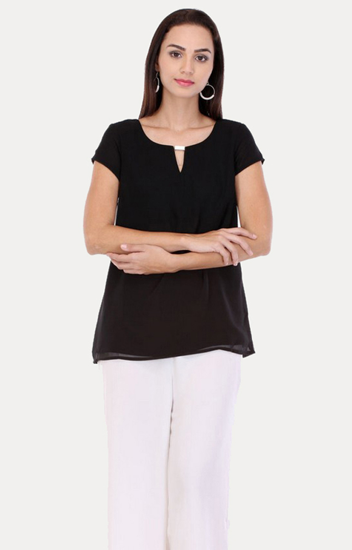 W | W Women Black Color Top