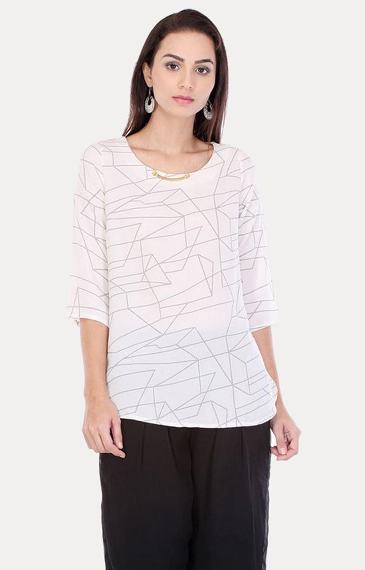 W | W Women White Color Top