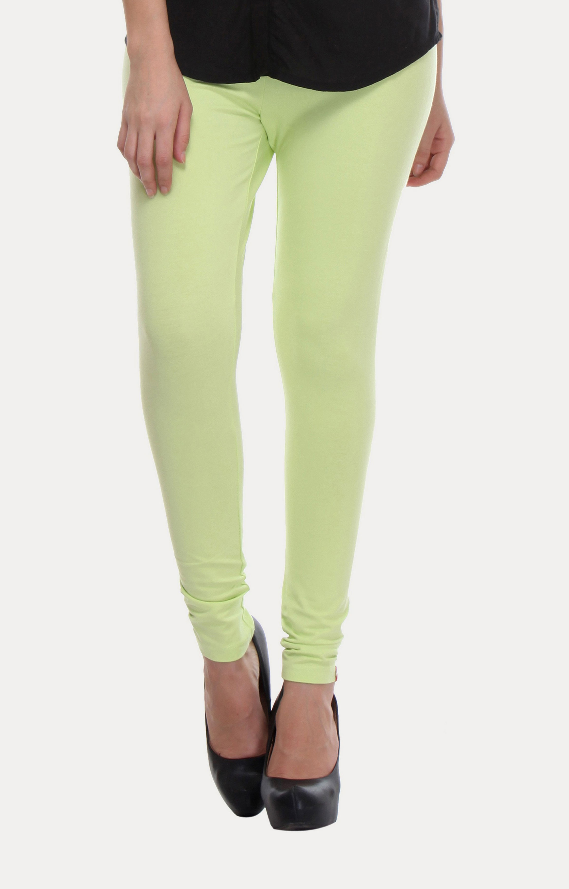 W | W Women Green Color Tights