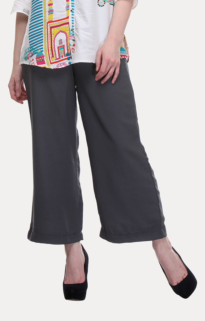 W | W Women Grey Color Pants