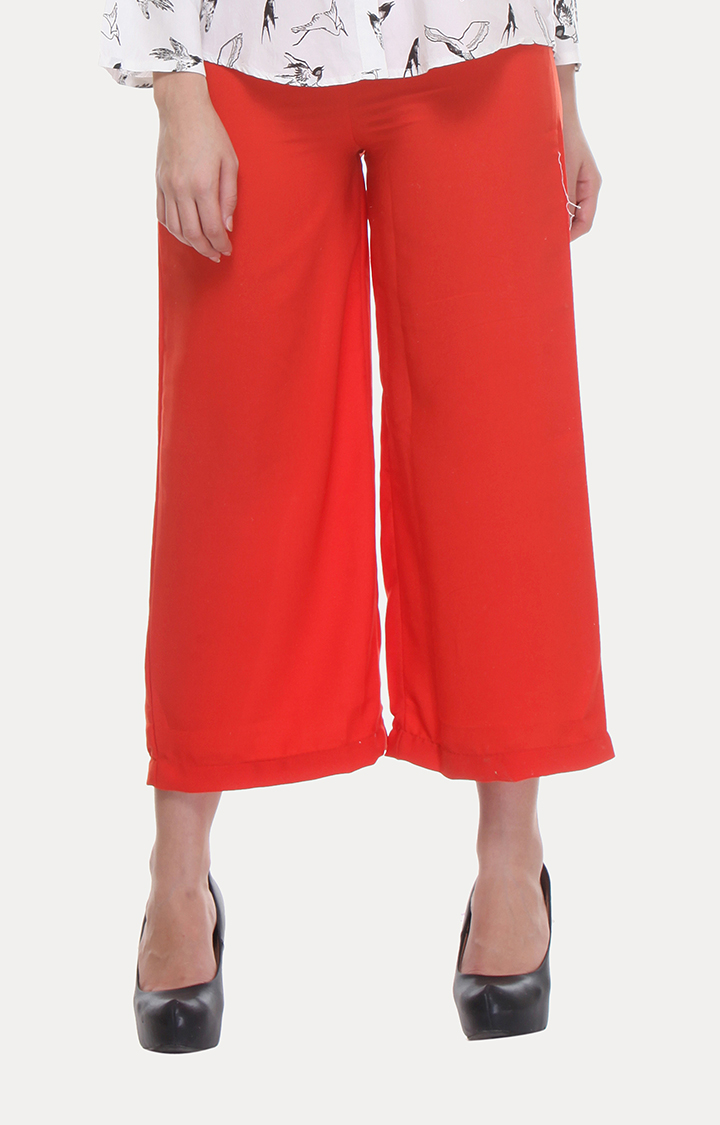 W | W Women Orange Color Pants