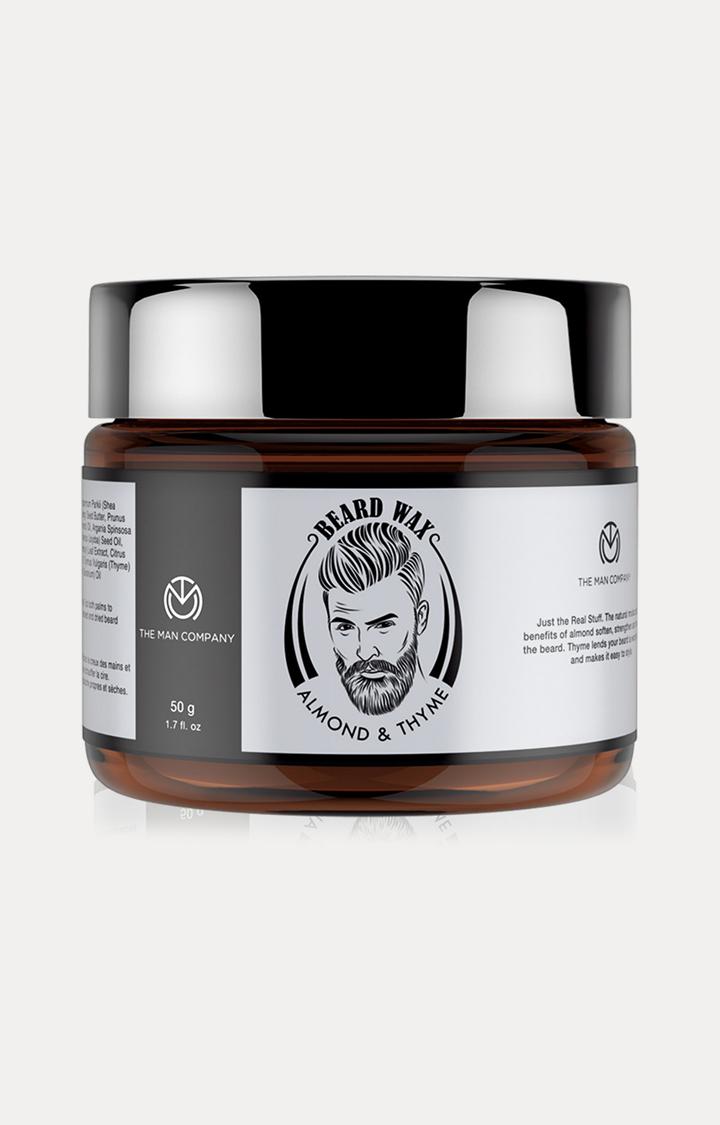 The Man Company | Almond & Thyme Beard Wax - 50 GM