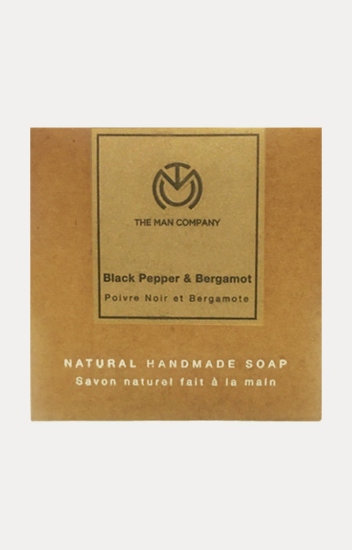 The Man Company | Black Pepper and Bergamot Handmade Soap - 125 GM