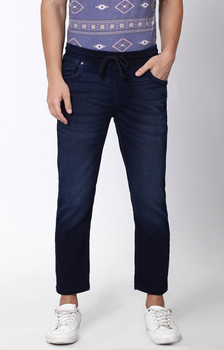Blue Saint | Blue Solid Straight Jeans