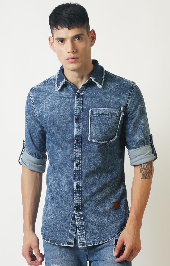 Blue Saint | Blue Solid Casual Shirt