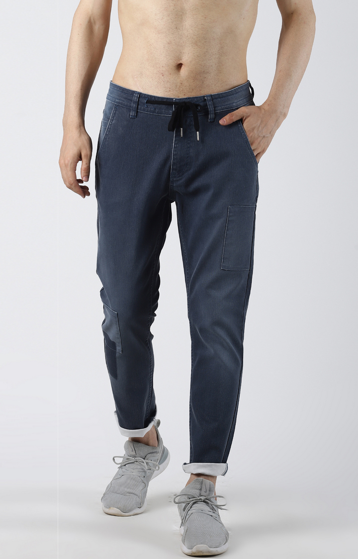Blue Saint   Blue Ripped Tapered Jeans
