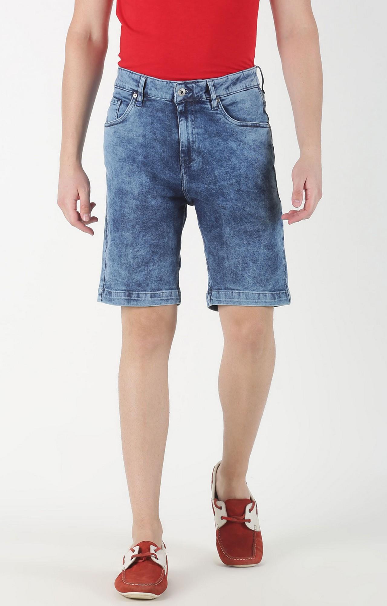 Blue Saint | Blue Solid Shorts