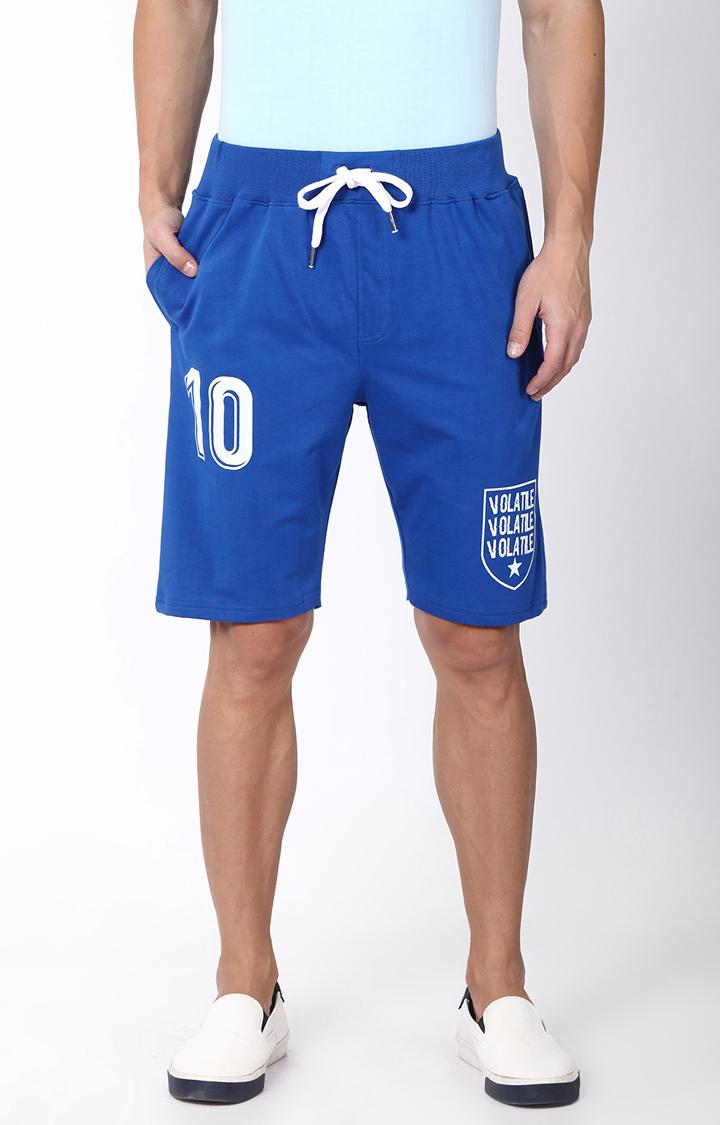 Blue Saint | Blue Printed Shorts