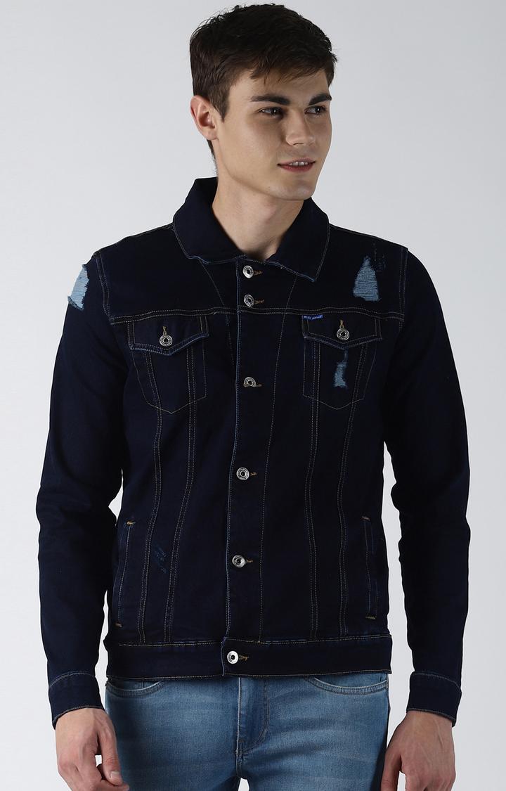 Blue Saint   Blue Ripped Denim Jacket