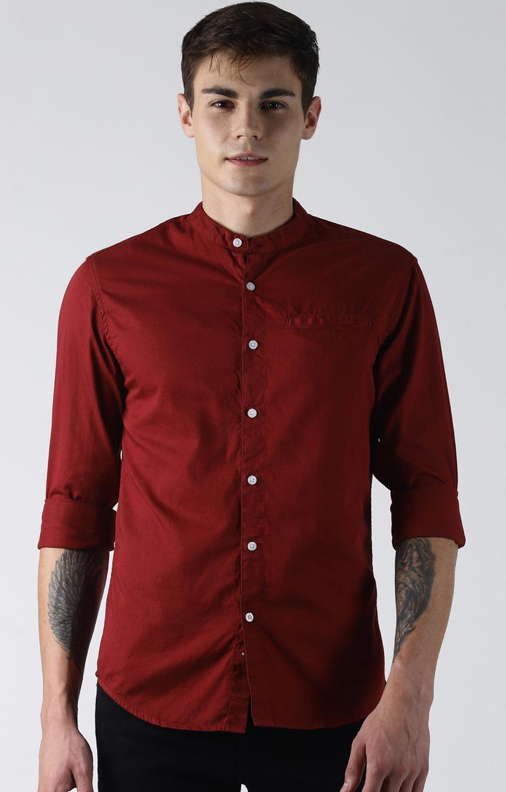 Blue Saint   Maroon Solid Casual Shirt