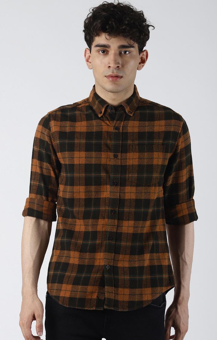 Blue Saint | Brown Checked Casual Shirt
