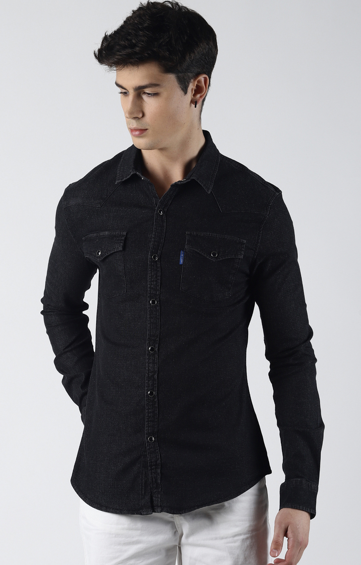 Blue Saint | Black Solid Casual Shirt