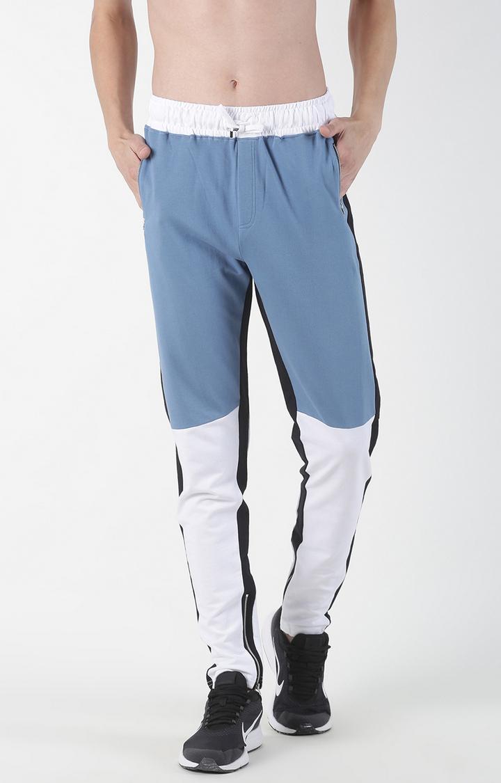 Blue Saint | Light Blue Colourblock Trackpants