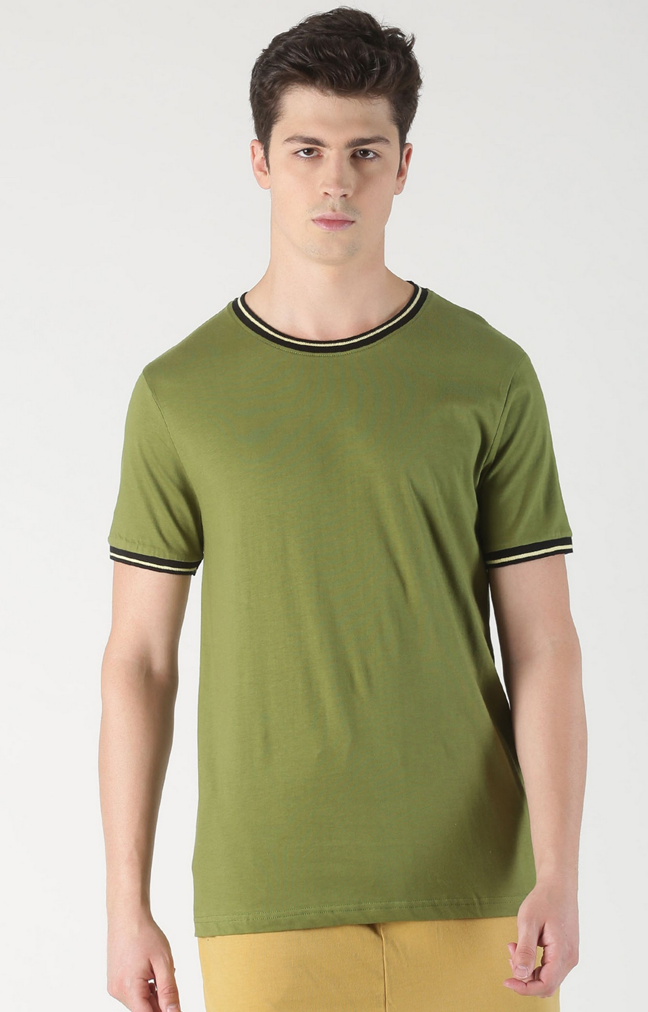 Blue Saint | Green Solid T-Shirt