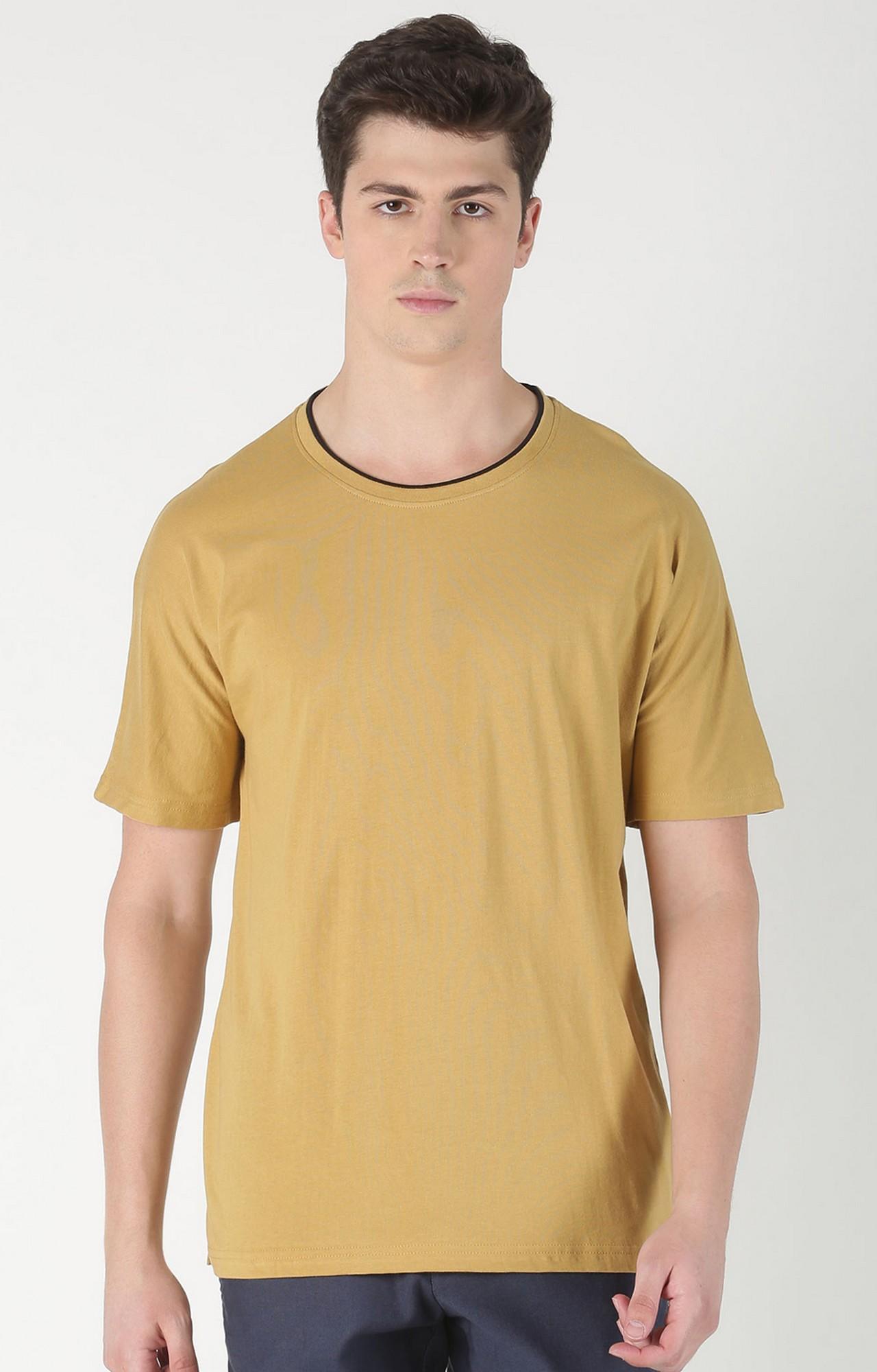 Blue Saint | Brown Solid T-Shirt