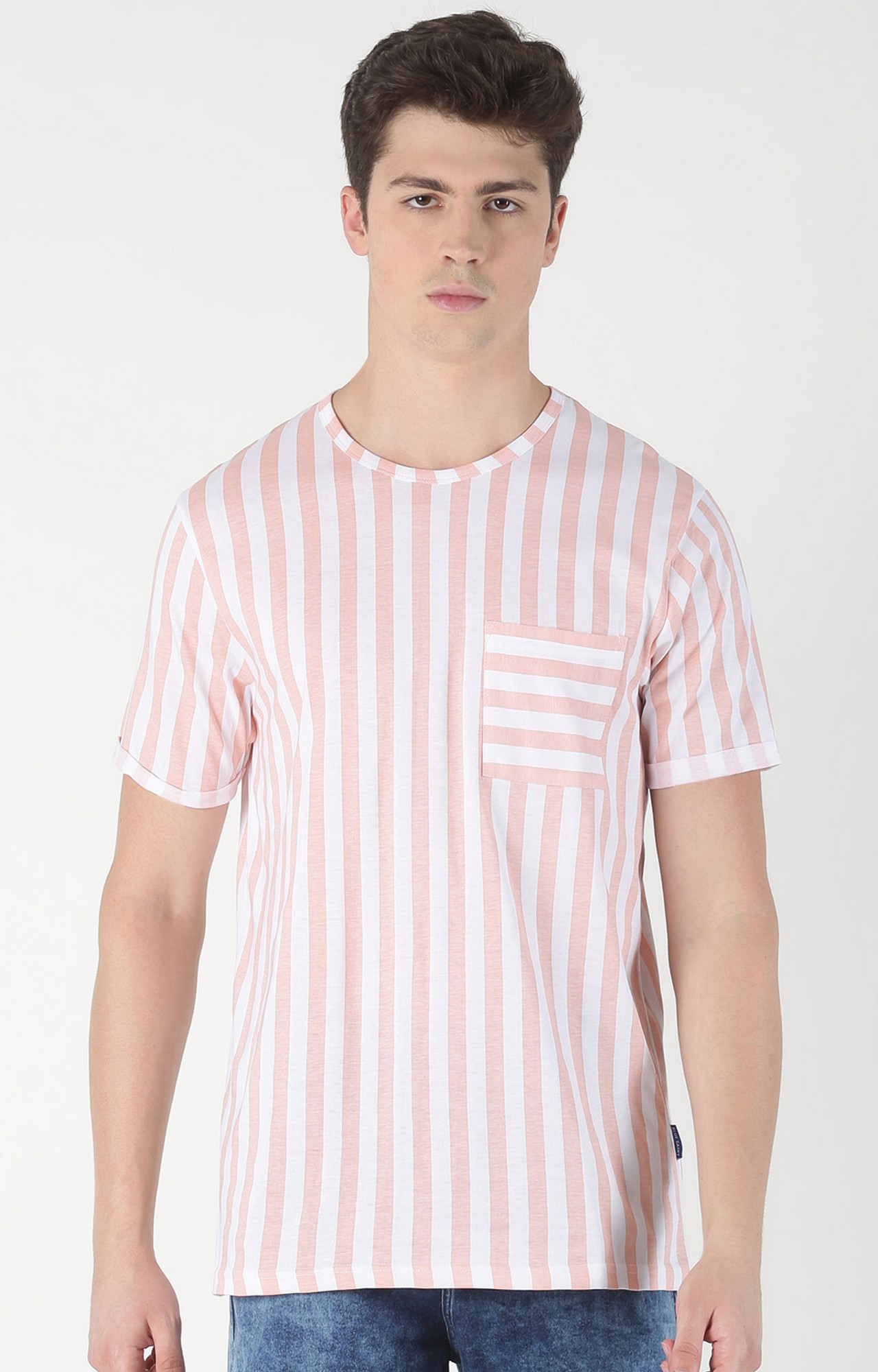 Blue Saint | Pink Striped T-Shirt