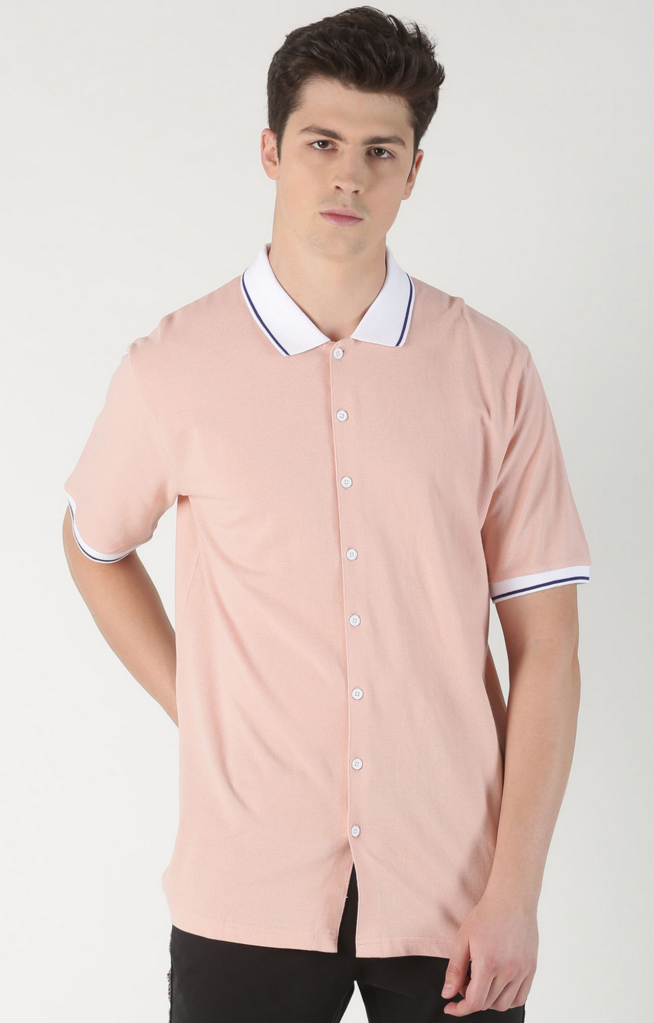 Blue Saint | Pink Solid Casual Shirt