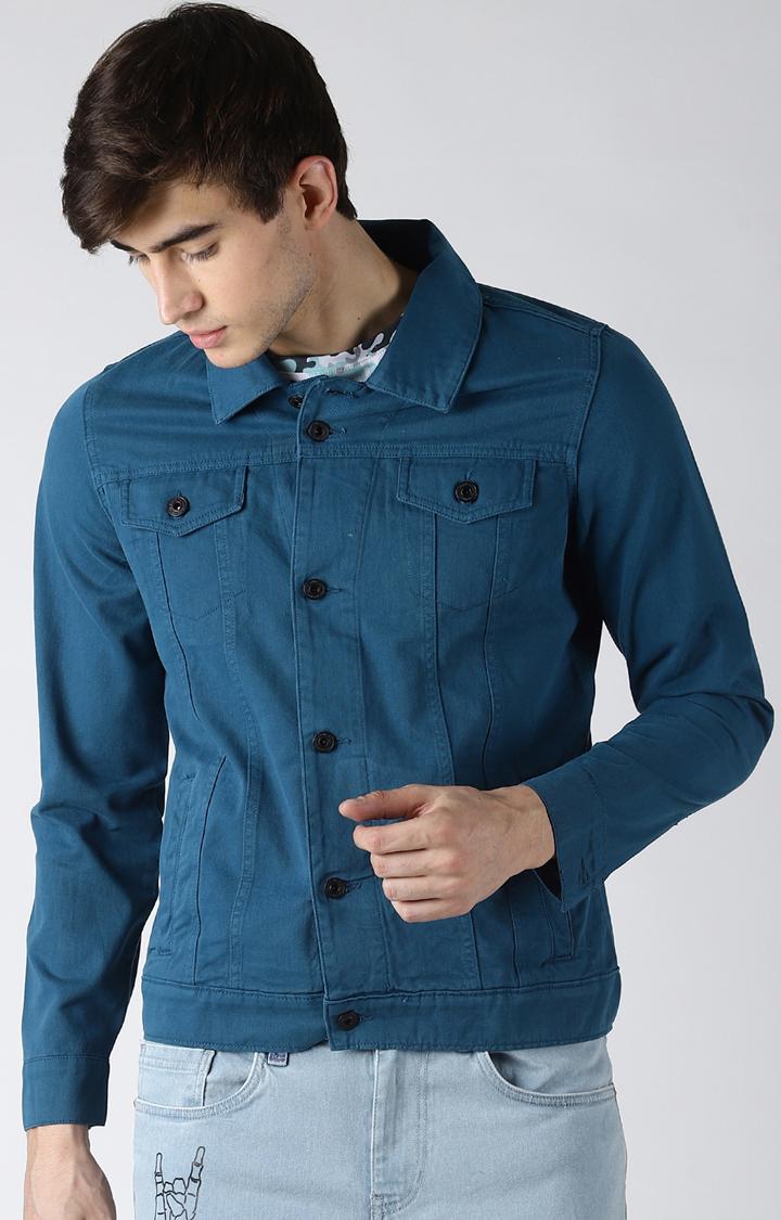 Blue Saint   Navy Solid Western Jacket