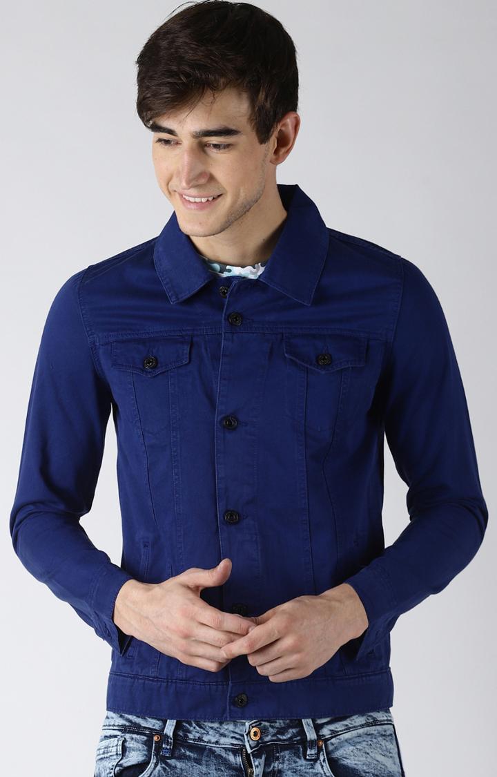 Blue Saint   Blue Solid Western Jacket