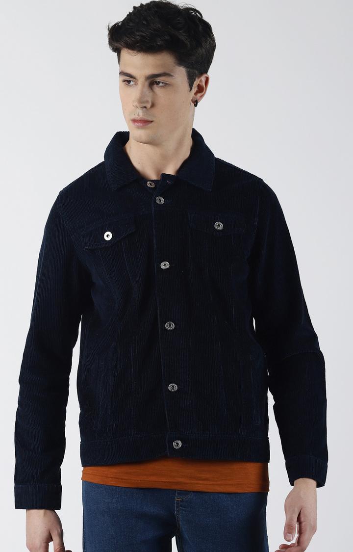 Blue Saint   Navy Solid Denim Jacket
